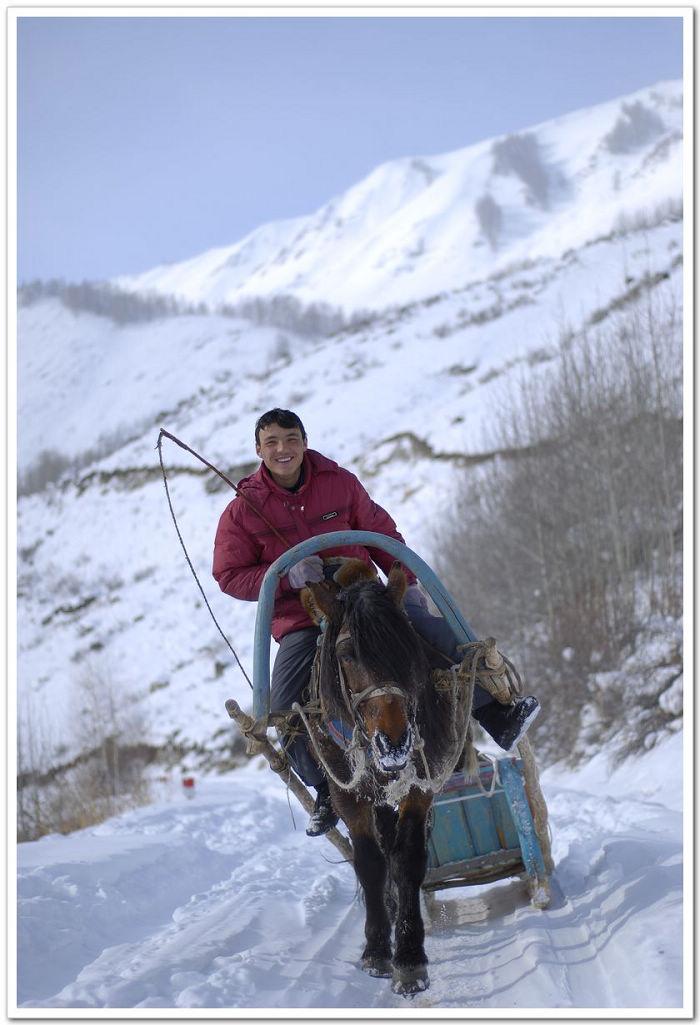 马拉雪橇穿越之海拉提篇 哈萨克版的杨子荣 喀纳斯专版 新疆冬季旅图片